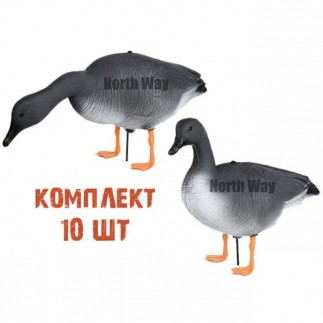 Комплект чучел гуся гуменник «North Way Антиблик»